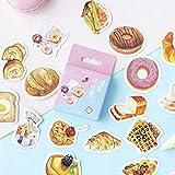 BLOUR .Cartone Animato Ricordati di Fare Colazione Torta Pane Adesivi in Scatola Ragazzo Ragazza Decorativo Sigillo Cartoleria Fai da Te Etichetta 46pc / Cartone