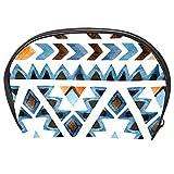 Bennigiry - Bolsa de maquillaje tribal africana azteca para mujer, kit de viaje con cremallera, multifunción, bolsa de almacenamiento