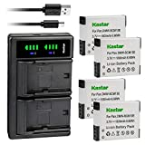 Kastar 4-Pack Battery and LTD2 USB Charger Replacement for Panasonic DMW-BCM13, DMW-BCM13E, DMW-BCM13PP Battery, VSK0800, VSK0801 Charger, Panasonic Lumix DMC-ZS40K DMC-ZS40S, Lumix DMC-ZS45 DMC-ZS45K
