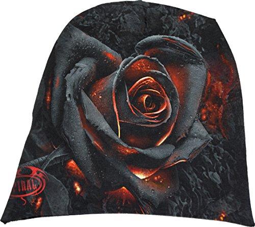 Spiral Direct Burnt Rose-Light Cotton Beanies Black Bonnet, Noir, Taille Unique Mixte