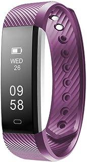 YANGSANJIN Pulsera Inteligente, Pulseras de Actividad física Podómetro de Actividad Pulsera Rastreador de sueño Smartwatch Resistente al Agua para teléfonos Inteligentes Android e iOS