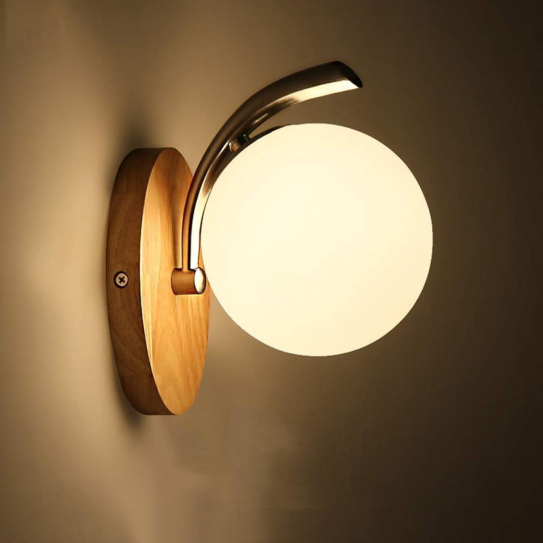 LDDENDP Massivholz Wandleuchte Holz Stil Kreative Persnlichkeit Einfache Moderne Wohnzimmer Gang Korridor Treppen Schlafzimmer Nachttischlampe Led Hlzerne Europische Lampenhalterung Licht