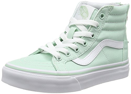 Vans Sk8-hi Zip, Unisex-Kinder Hohe Sneakers, Grün (gossamer Green/true White), 31.5 EU