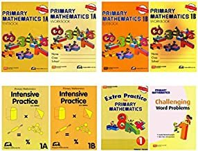 Singapore Math Primary Mathematics Complete Grade 1 Set (8 Books): 2 Textbooks, 2 Workbooks, 2 Intensive Practice, Extra Practice and Challenging Word