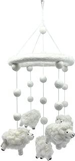 Wool Sheep Lamb Nursery Mobile for Baby's Room Crib Decoration