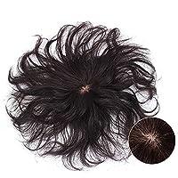 HIFEOS 部分ウィッグ 100%人毛 ヘアピース トップヘアピース カール ショート 医療用 白髪隠れ 脱毛症 ウィッグ 女性用 ファッション 使いやすい 軽量 通気性抜群 ポイントウィッグ 薄毛隠し