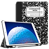 Fintie Case for iPad Air (3rd Gen) 10.5' 2019 / iPad Pro 10.5' 2017 - [SlimShell] Ultra Lightweight Standing Protective Cover with Built-in Pencil Holder, Auto Wake/Sleep (Composition Book)