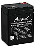 Amptek 6V,4.5AH Sealed Lead - Acid Battery Pack of 1