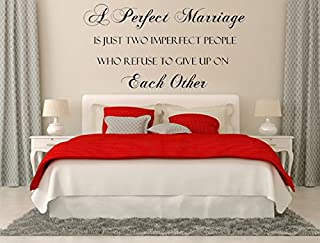 A Perfect Marriage Vinyl Wall Decal