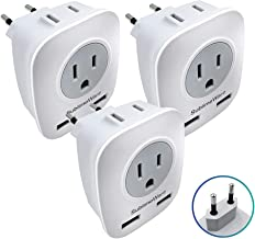 Best uk to european plug adapter with usb Reviews