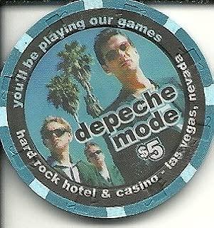 $5 hard rock depeche mode las vegas casino chip