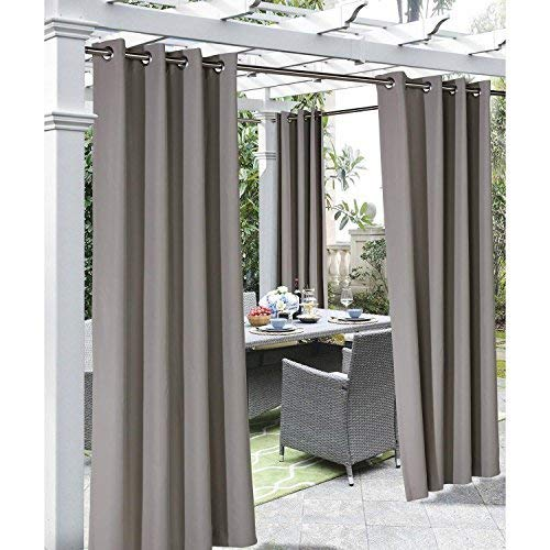 Outdoor Décor Coastal 96 Outdoor Panel, Taupe