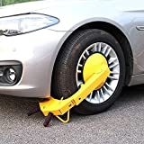 Wheel Lock Clamp Adjustable Tire Boot Lock Anti-Theft Lock Clamp Boot Tire Claw for Parking Car Truck RV Boat Trailer UTV, ATV Parking, with Maximum Width of 11 Inch