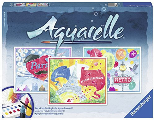 Ravensburger Aquarelle 29487 - Malsets, Paris, Maxi, 30 x 24 cm