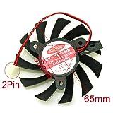 QHXCM RK-7010MB 12V 0.15A 65mm 33 * 33 * 33mm 2Wire 2Pin Fan for MSI Z240-MD512D5 Z240-MD512M Graphics Card Cooling Fan Cooler