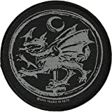 Cradle Of Filth Men's Order Of The Dragon Woven Patch Black