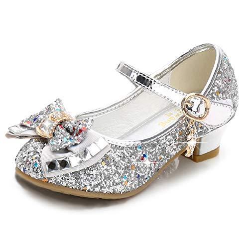 Cadidi Dinos Girls Dress Wedding Party Heel Mary Jane Princess Flower Shoes (Toddler/Little Kid/Big Kid) 11 M US Little Kid