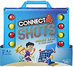 A rapid-fire, bouncin' twist on the Connect 4 game Fast-paced, competitive excitement Players simultaneously bounce balls into the grid Get 4 in a row of the same color to win Includes collapsible grid, 2 feet, cardboard backboard, 12 yellow balls, 1...