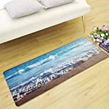 HLXX Tapetes de Bienvenida Summer Beach Tapete Protector escénico para Sala de Estar Dormitorio Pasillo Felpudo Tapetes absorbentes de Agua A12 50x160cm