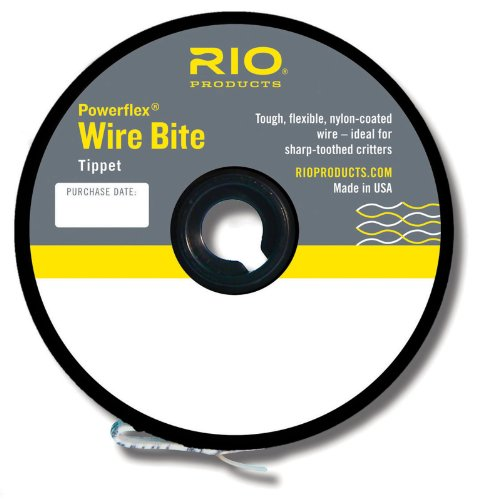 Rio Fly Fishing Tippet Power Flex-Wire Bite Tippet 40Lb 15'. Fishing Tackle, Clear