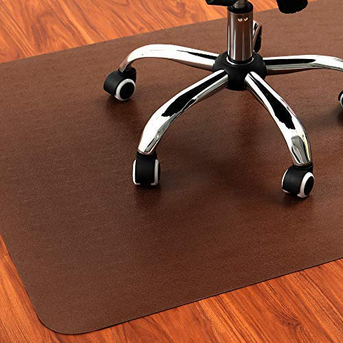 Braune Bodenschutzmatte | 120 x 90 cm | Farbige Bürostuhl Unterlage Geeignet für Vielfältige Hartboden