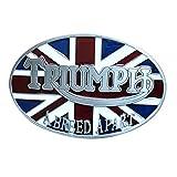 JiuErDP Cinturón Bandera británica 2pcs Triunfo Hebilla Reino Unido Patriótico Hebilla Hebillas de cinturón (Color : Triumph, Size : 1.5in)