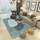 Alfombra alfombras Pelo Corto Salon Fácil Limpieza Gris Negro geométrico diseño Antideslizante Alfombra Alfombra Oficina articulos de Cocina 120*170CM