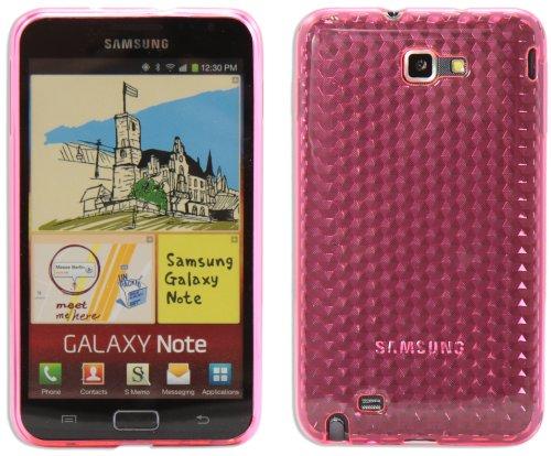 Luxburg® Diamond Design Schutzhülle für Samsung Galaxy Note GT-N7000 in Farbe Rosenquartz Pink/Rosa, Hülle Case aus TPU Silikon