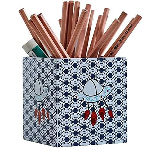 ZHANGCHI Titular de la Pluma, diseño de Dibujos Animados de Madera, Soporte de lápiz de Oficina de Aprendizaje Multifuncional for niños Papelería Organizador ordenado
