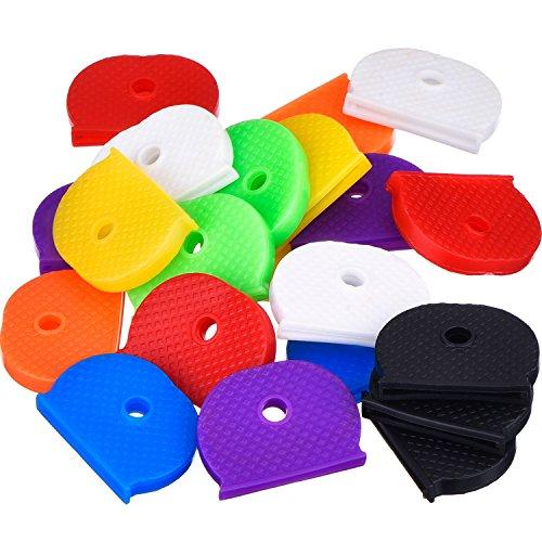 Willbond 24 Pezzi Chiave Cap Set Flessibile Chiave Cover per Facile Identificazione Chiave di Porta, 8 Colori