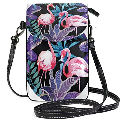 XCNGG Flamingo Cell Phone Purse Wallet for Women Girl Small Crossbody Purse Bags