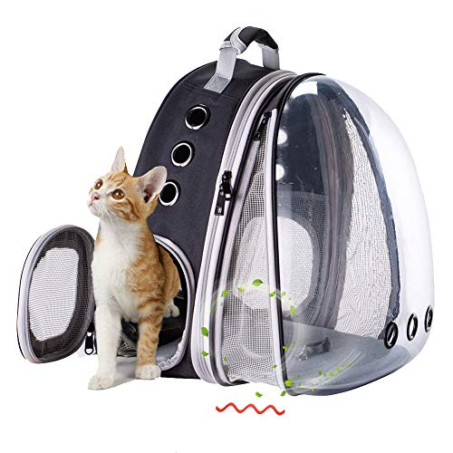 Interfashioner Large Cat Carrier Backpack, Front Expandable Clear Pet Carrier Backpack...
