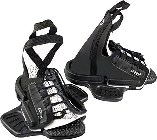 WAKETEC Wakeboard Bindung Onset, Open Toe Boots, großer Verstellbereich, Schuhgröße 34-46 EU, Anfängerbindung, passend für Fast jedes Wakeboard, Größen:L-XL