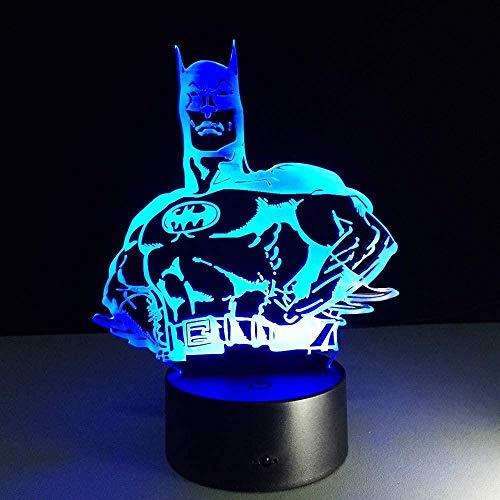 3D Folie LED Nachtlicht Held Batman LED Tischlampe 3D Illusion Licht romantische Party Atmosphäre Licht Hochzeit Dekoration Frau Geschenk