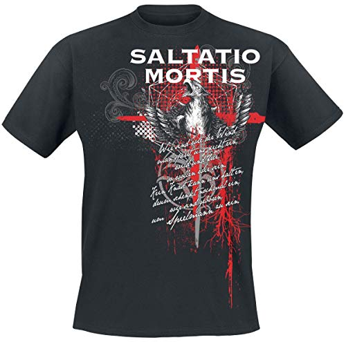 Saltatio Mortis Griffin Trash Polka Männer T-Shirt schwarz M 100% Baumwolle Band-Merch, Bands