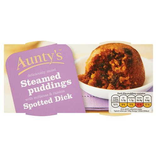 Aunty's Steamed Pudding's Spotted Dick 2x100g