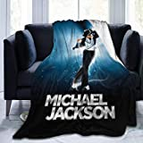 Nmfdz Michael Jackson Blanket Flannel Microfiber Throw Blankets Super Soft Fuzzy Luxury Suitable for Bed Sofa Travel Four Seasons Blanket-50 x 40 inch - 50 x 40 inchfashion Black