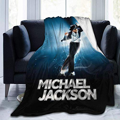 Nmfdz Michael Jackson Blanket Flannel Microfiber Throw Blankets Super Soft Fuzzy Luxury Suitable for Bed Sofa Travel Four Seasons Blanket-50 x 40 inch - 50 x 40 inchfashion Black