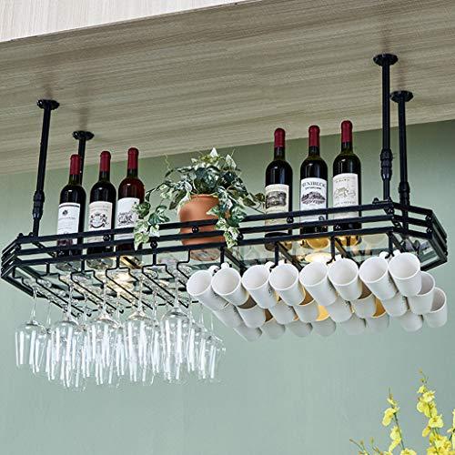 Organizza la Cucina Portabottiglie Appeso per Bottiglie di Vino, portabottiglie per Bicchieri da Cucina, Pannello in Vetro, Personalizzazione in Altezza 3 Colori / 4 Dimensioni/Braccio/Club di ca
