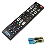 HQRP Remote Control Compatible with Hitachi 42HDT52 42HDT79 42HDX61 42HDX62 42HDX99 42LD7800TA LCD LED HD TV Smart 1080p 3D Ultra 4K Plasma