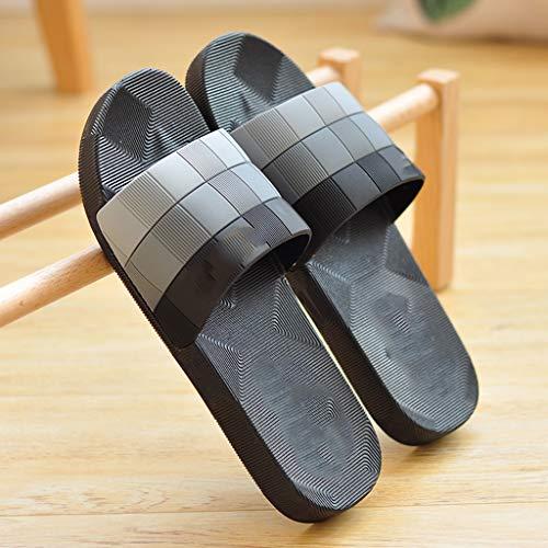 zxb-shop Chanclas Sandalias y el Verano Interiores Baño Bañera Antideslizante Suave Pareja Inferior Zapatos Desodorante Cuidado Zapatillas de Verano Principal Hombres Zapatillas casa (Size : 44)