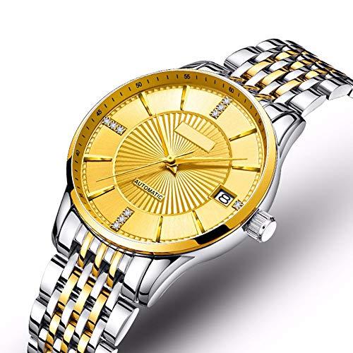 Women's Roestvrij Stalen Band Horloges Automatische Mechanische Zaken Waterproof Vrouwen Horloges Luxe Diamond Wijzerplaat Dameshorloge