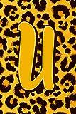 U: Letter U Monogram Initials Leopard Skin Print Pattern  Notebook & Journal