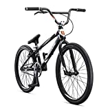 Mongoose Title Elite 24 BMX Race Bike with 24-Inch Wheels in Black for Advanced and Returning...