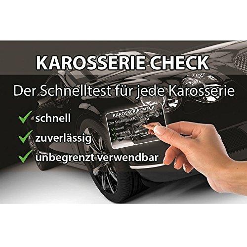 Magnetkarte für schnellen Karosserie-Check, Spachtelprüfer für Karosserie Test