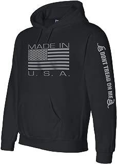 Made in USA Black Hooded Sweatshirt