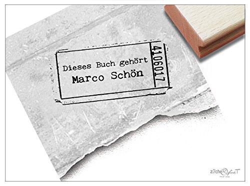 Stempel - EX LIBRIS stempel - schoolstempel ticket - individuele boekstempel voor jou en je boeken - van zAcheR-fineT