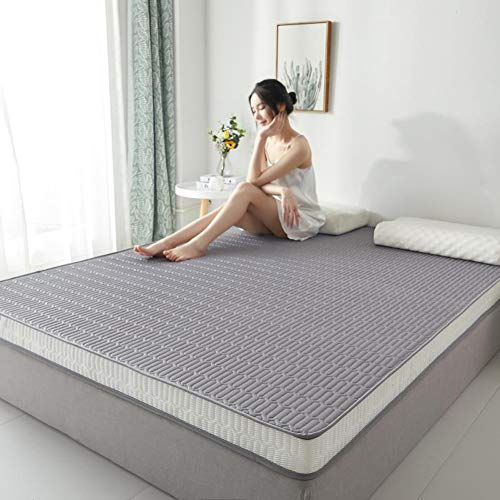 Mattress,9cm Thicken Tatami Mattresses Floor Memory foam Latex mattress,Portable Collapsible Futon Mattresses,Single Double Student Residences Home Travel Folding Mattress,Gray,150*200*9CM