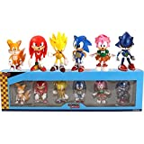 XINBANG Juguetes sónicos 6pcs/ Set 6-7cm 6pcs/Set Sonic Figures Toy Characters Sonic Shadow Tails PVC Generation Boom Rare Box-Packed Gifts For Children Animals