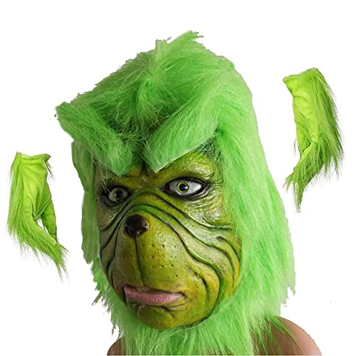 Z-Life Green Grinch Costume Latex Masks Maschere Divertenti Carnevale per Halloween Xmas Party Grinch...